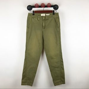 Anthropologie chino pants in olive green